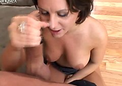 Cheesy whore Ariana Jollee gets her dirty cunt eaten dry before she gives a quality blowjob