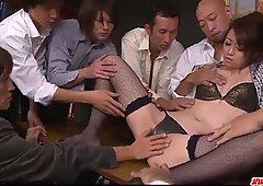 Amazing Japanese xxx along office milf Maki Hojo