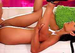Exotic Teen Loves a Big Cock