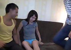 She spreads legs wide open