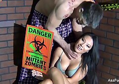 Behind the Scenes with Asa Akira vs. Zombie shoot