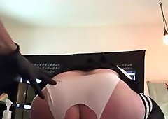 Babygirl furiously squatting down on Masters fist