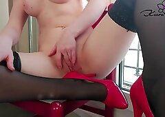 Student Passionate Masturbate Pussy after Waking up