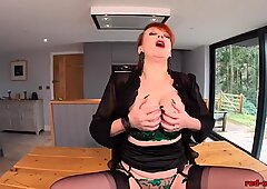 Busty Redhead Mature Red XXX Touches her Pussy