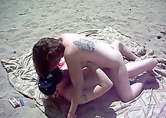 wife fucks stranger at boony dune beach while hubby watches and videos