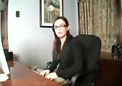 Brunette pornstars jerk off instructors