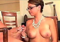 Stockings secretary Holly West fucked