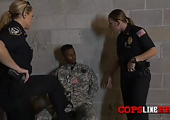 Army s BBC taking Female Horny Cops  orders