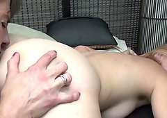 Two horny old and young lesbians have fun