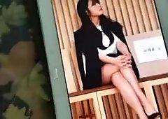 Apink Eunji's legs cum (tribute)