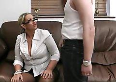 Busty salesgirl getting screwed