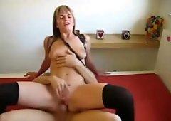 Amateur wife in leggings gets fucked