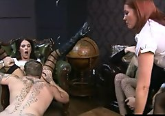 Femdoms humiliate and insult their sub