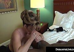 Busty Cougar Deauxma Bangs A Big Black Cock!