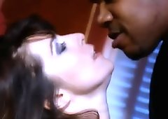 Amazing French bitch Lydia St Martin does her best to please black dude