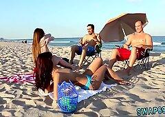 Plaża przynęta i po pieprzeniu