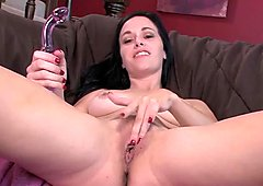 Savannah Fyre Gets Naughty with a Glass Dildo