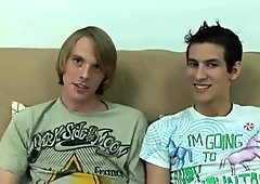 Two teen guys undressing
