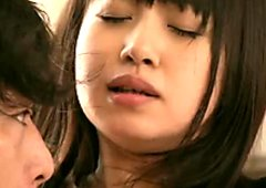 Foxy Japanese teen Kotomi rides horny BF in reverse cowgirl style