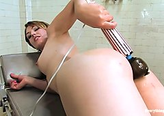 Anal Audition Sarah Shevon plugs her enema