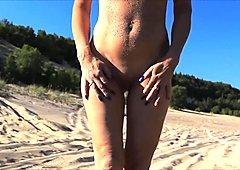 Audrey, in the dunes