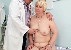Pulchne Blond Muśki Owłosione Cipka Lekarka Egzamin