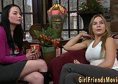 Lesbian teens scissoring and tribbing