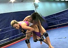 Aleksa Diamond fighting with a sexy babe in the ring