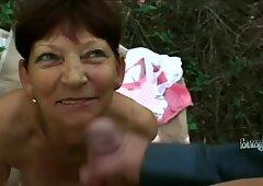 巨乳おばあちゃん彼氏と遊ぶ巨大観チンポで主観